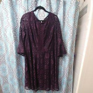 Plum Purple Lace Dress